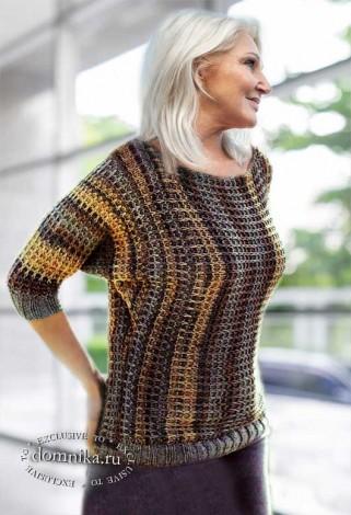Стильный пуловер для дам пожилого возраста
