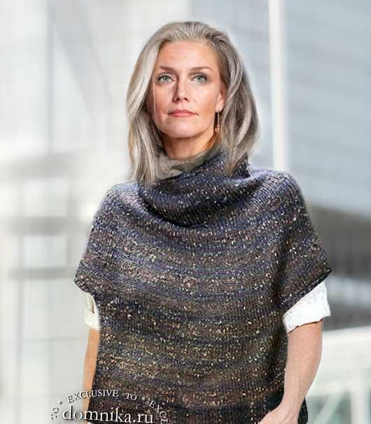 вязаный жилет спицами для женщин 60 лет описание